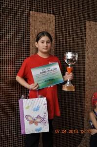 Bratosin Alexia si Cupa pentru fete 10 ani